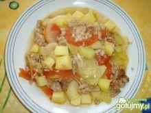 Mielone mięso z warzywami