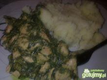 Mięsko w sosie śmietanowo-szpinakowym