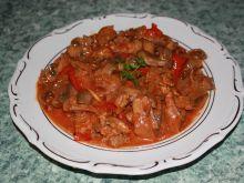 Mięsna pomidorowo-paprykowa potrawka