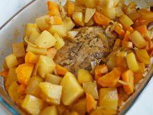 Mieso pieczone z warzywami