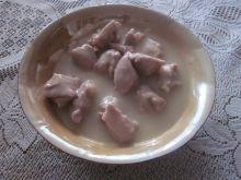 Mięso  wieprzowe w sosie czosnkowym