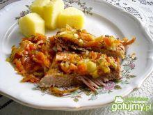 Mięso wieprzowe zapiekane z warzywami