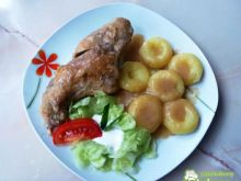 Mieso z królika w szarym sosie