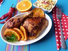 Mięso z kurczaka w pomarańczach
