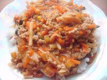 Mieszanka chińska z mięsem mielonym