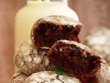 Miętowo-czekoladowe popękane ciasteczka