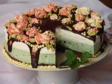 Miętowo-czekoladowy torcik