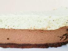 Miętowy sernik czekoladowy