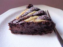 Migdałowo-czekoladowe ciasto z gruszkami bez mąki