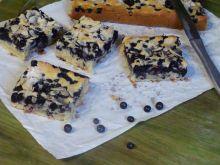 Migdałowo jagodowe ciasto