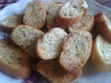 Mini grzanki maślano - ziołowe