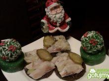Mini kanapeczki ze śledziem