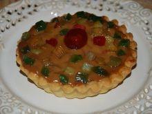 Mini mazurki z prażonymi jabłkami i kajmakiem