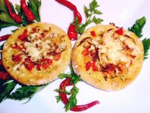 Mini pizze z gotowanych ziemniaków