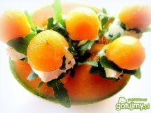 Mini szaszłyki z melona i sera feta