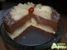 Mini tort czekoladowo gruszkowy