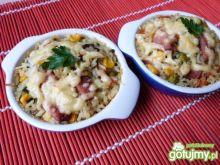 Mini zapiekanki z ryżu i kiełbasy