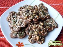 Miodowo-kakaowe ciasteczka z ziarnami