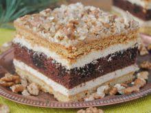 Miodowo-orzechowe ciasto