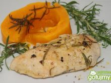 Miodowo-rozmarynowa pierś z kurczaka