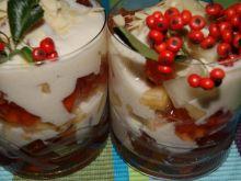 Mix owocowy z galaretką i jogurtem