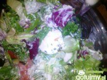 mix sałat z mozzarellą