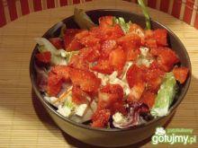 Mix sałat z truskawkami