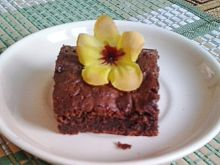 Mocno czekoladowe ciasto