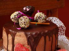 Mocno czekoladowy torcik
