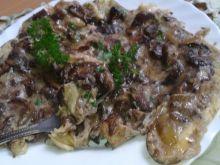 Mocno grzybowy omlet