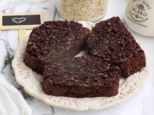 Mocno kakaowe ciasto z płatkami owsianymi