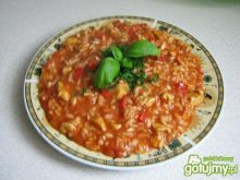 Mocno pomidorowe risotto