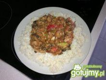 mój gulasz z kurczaka z ryżem