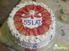 Mój pyszny tort z truskawkami