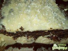 Mój serniko- makowiec w białej czekoladz
