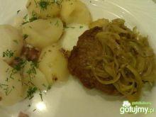 Mój stek wieprzowy z cebulką