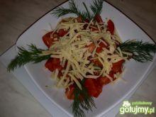 Moja sałatka z pomidorów i sera