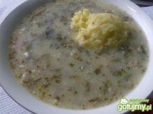Moja zupa szczawiowa z ziemniakami