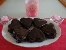 Moje piernikowe  serduszka  w  czekoladzie