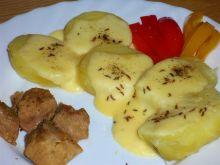 Moje raclette na ziemniakach z poledwic