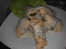 Moje roladki z łososia na ryżu
