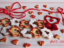 Morelowe ciasteczka na Walentynki