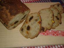 Morelowo - wiśniowy chlebek na mące chlebowej