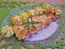 Morszczuk w migdałach z ziemniakami księżnej
