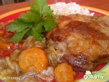 Mostki w warzywach z ryżem