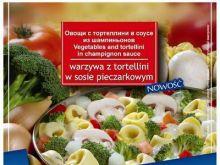 Mrożone warzywa z tortellini w sosie