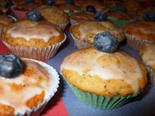 Muffinki bananowo-makowe z borówka