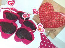 Muffinki czekoladowe serca