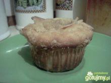 muffinki drożdżowe z gruszkami