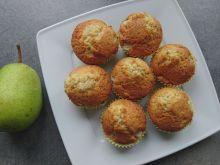 Muffinki gruszkowe z olejem kokosowym